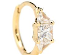 Einzelner Ohrring aus 18kt Gelbgold mit Diamant