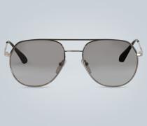 Metallsonnenbrille mit Doppelsteg