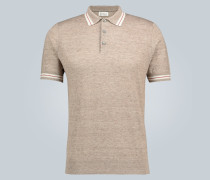 Poloshirt aus Leinen und Baumwolle