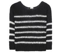 Gestreifter Pullover aus einem Woll-Mohair-Gemisch