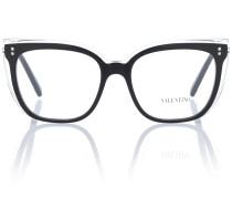 Brille aus Edelstahl und Acetat