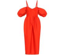 Cold-Shoulder-Kleid aus Baumwolle