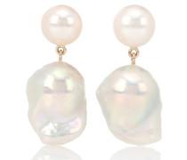 Ohrringe Venus Blac aus 14kt Gelbgold mit Perlen