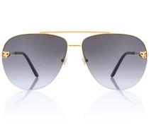 Aviator-Sonnenbrille Panthère de Cartier