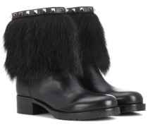 Garavani Ankle Boots Rockstud Winter aus Leder