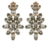 Kristallverzierte Clip-Ohrringe