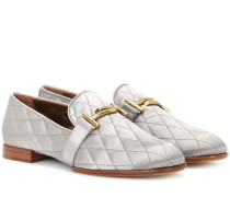 Loafers Double T aus Satin