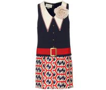 Minikleid aus Tweed und Seidensatin