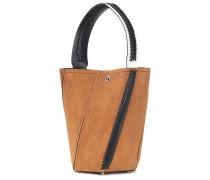 Bucket-Bag Medium Hex aus Veloursleder