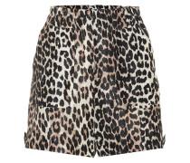 Shorts aus Leinen und Seide
