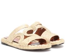 Sandalen Aura aus Raffiabast