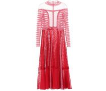 Kleid mit Spitze und Rüschen