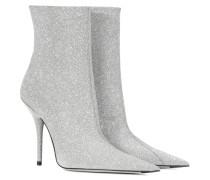 Ankle Boots Slash Heel mit Glitter