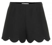 Shorts aus Schurwolle und Seide