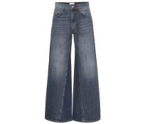 Mid-Rise Jeans mit weitem Bein