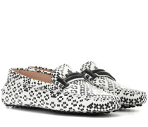 Loafers Gommino Double T aus Leder
