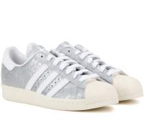 Sneakers Superstar 80s aus geprägtem Metallicleder