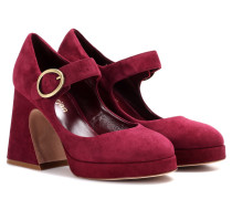 Mary-Jane-Pumps Millie aus Veloursleder
