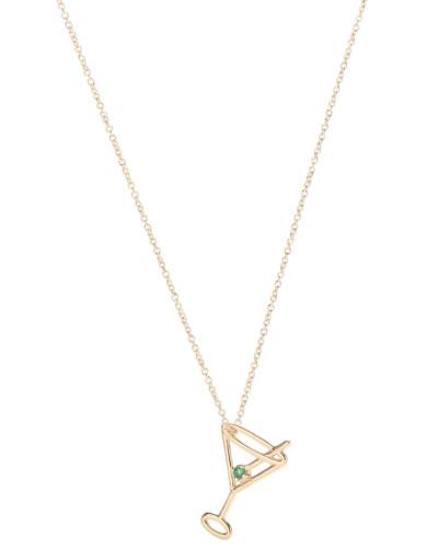 Halskette Martini Esmeralda aus 9kt Gold