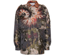 Oversize-Jacke mit Metallic-Effekt
