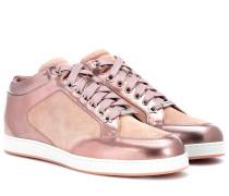 Sneakers Miami aus Metallic- und Veloursleder