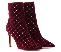 Ankle Boots Rockstud Spike aus Samt