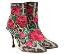 Bedruckte Ankle Boots
