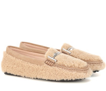 Mokassins Gommino aus Shearling