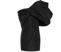 One-Shoulder-Kleid aus Taft