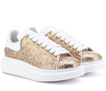 Alexander McQueen Sneakers aus Leder mit Glitter