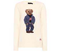 Pullover aus Wolle und Intarsie