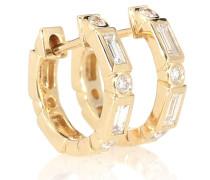 Creolen aus 14kt Gelbgold und Diamanten
