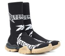 X Reebok High-Top-Sneakers aus Strick