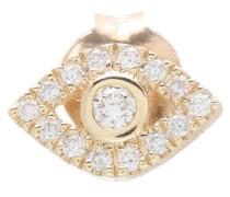 Ohrring Evil Eye aus 14kt Gelbgold mit Diamanten