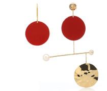 Ohrringe Mobile aus 18kt Goldauflage mit Perlen