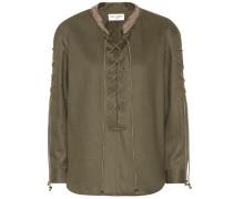 Bluse aus Baumwoll-Gabardine