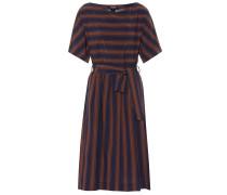 Gestreiftes Kleid aus Crêpe
