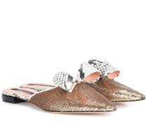 Slippers mit Pailletten