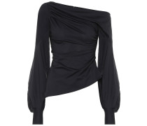 One-Shoulder-Top aus Baumwolle