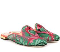 Slippers Flamingo aus Canvas