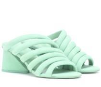 Sandalen Izzie Mid aus Veloursleder