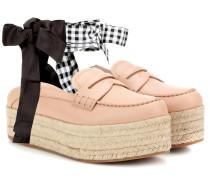 Plateau-Loafers aus Leder