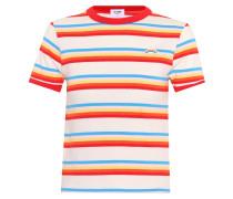 Gestreiftes Baumwoll-T-Shirt Ringer