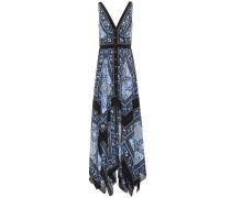 Bedrucktes Kleid Duel aus Seide