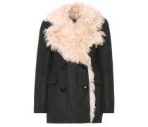 Mantel Berit mit Wolle und Pelz