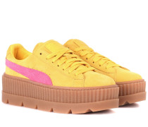 Sneakers Creeper aus Veloursleder