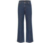 High-Rise Straight Jeans Sailor