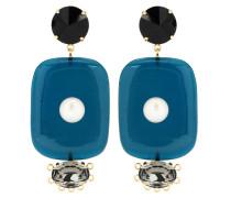 Verzierte Clip-Ohrringe aus Harz