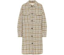 Karierter Mantel Oario aus Wolle