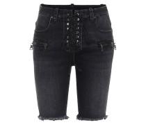 Jeansshorts mit Schnürung